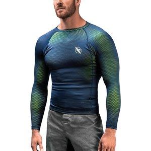 Hayabusa Hayabusa Fusion Rash Guard Langarm Blau Grün