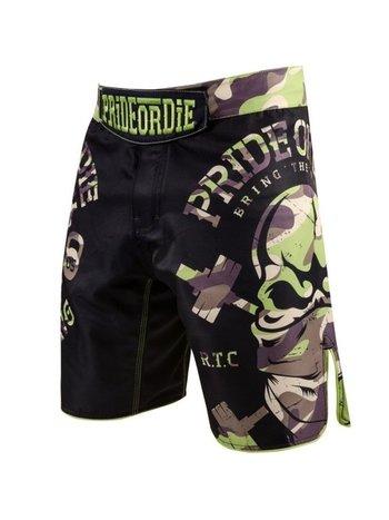Pride or Die PRIDE of DIE MMA Fightshorts RAW TRAINING CAMP Jungle