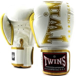 Twins Special Twins Special Fightgear Boxhandschuhe BGVL 8 Weiss Gold