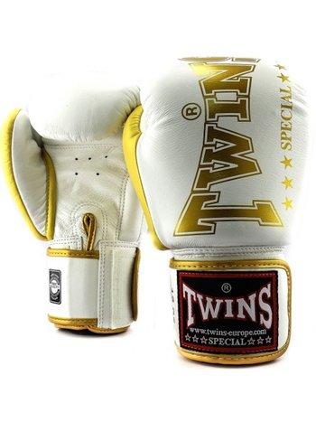 Twins Special Twins Special Fightgear Boxhandschuhe BGVL 8 Weiss Gold