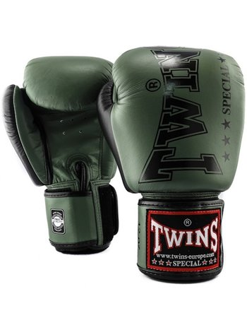 Twins Special Twins Muay Thai Boxing Gloves BGVL 8 Green Kickboxing