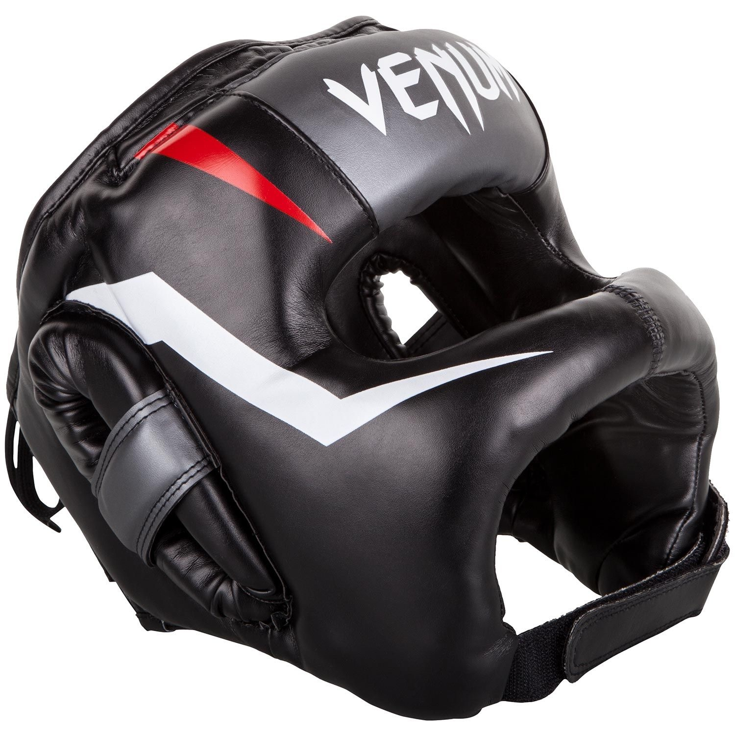 Venum Elite Headgear Black//Red//Gray