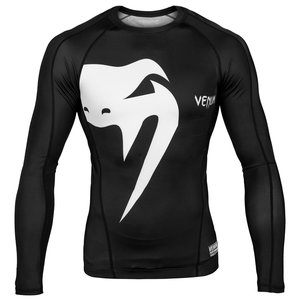 Venum Venum Giant Rashguard Black L / S door Venum MMA Fightwear