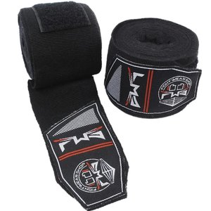 Fightwear Shop FWS Boxbandagen Handwickel Perfect Stretch 400 cm Schwarz