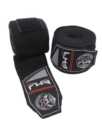Fightwear Shop FWS Boksbandages Perfect Stretch 400 cm Zwart