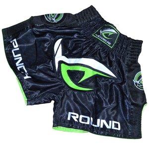 Punch Round™  Punch Round NoFear Kickboks Shorts Zwart Neo Groen
