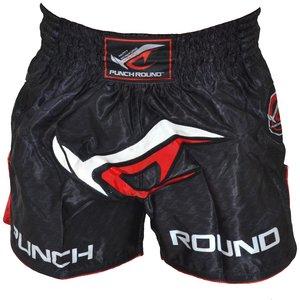Punch Round™  Punch Round NoFear Muay Thai Kickboks Broek Zwart Rood