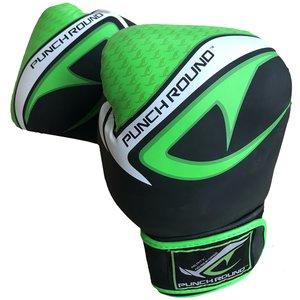 Punch Round™  Punch Round No-Fear Boxhandschuhe Schwarz Neo Grün
