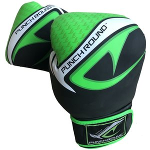 Punch Round™  Punch Round No-Fear Boxing Gloves Black Neo Green