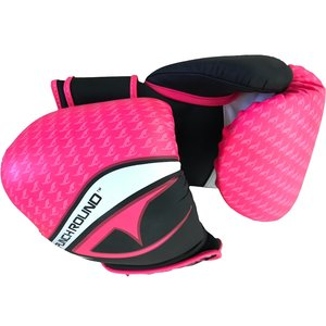 Punch Round™  Punch Round No-Fear Boxing Gloves Black Pink
