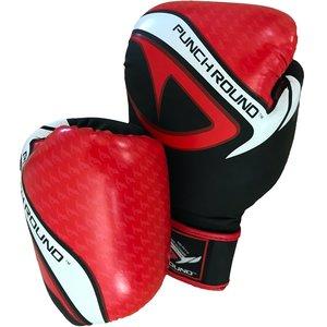 Punch Round™  Punch Round No-Fear Boxhandschuhe Schwarz Rot
