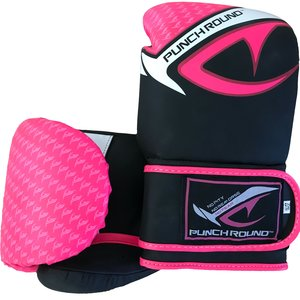 Punch Round™  Punch Round No-Fear Boxhandschuhe Schwarz Rosa