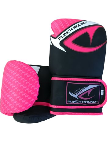 PunchR™  Punch Round No-Fear Boxing Gloves Black Pink