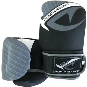 Punch Round™  Punch Round No-Fear Boxing Gloves Black Grey