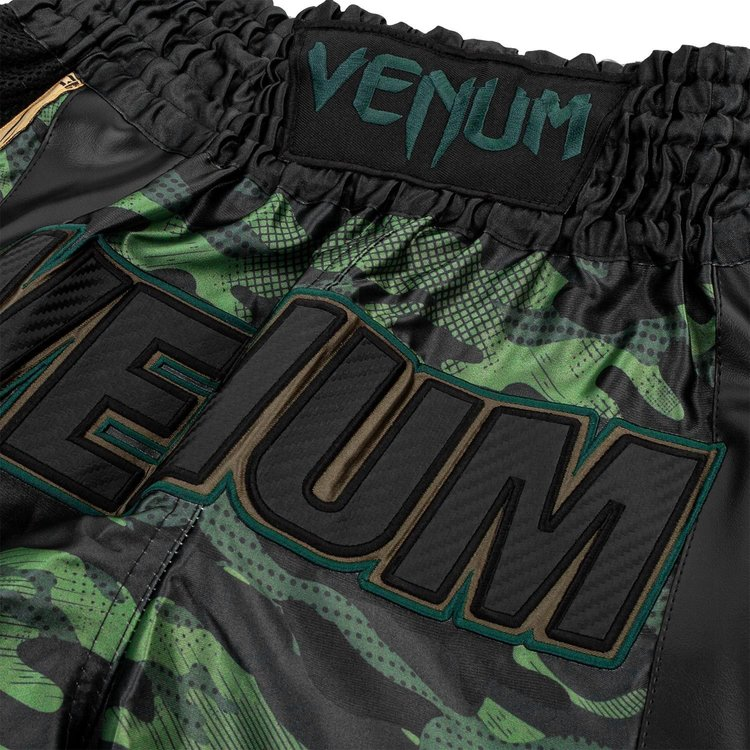 Venum Venum Muay Thai Full Camo Shorts Zwart Groen