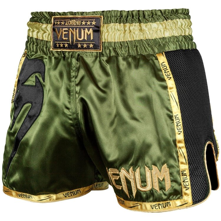 Venum Venum Muay Thai Shorts Giant Groen Zwart Goud
