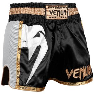 Venum Venum Muay Thai Shorts Giant Schwarz Gold Weiss