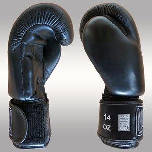 MUAY® MUAY® Original Leder Bokshandschoenen Zwart Zwart