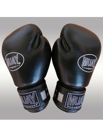 MUAY® MUAY® Original Leder Boxhandschuhe Schwarz Schwarz