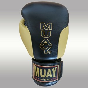 MUAY® MUAY Boxing Gloves Premium Black Gold Leather