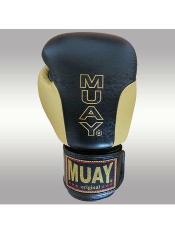 MUAY® MUAY BoxhandschuhePremium Schwarz GoldLeder