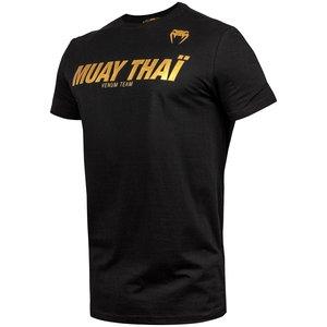 Venum Venum Muay Thai VT Baumwoll T-Shirts Schwarz Gold