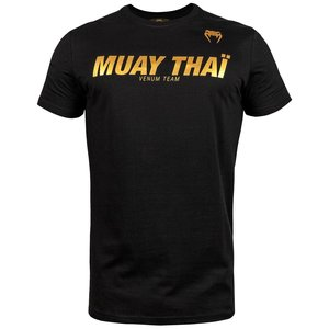 Venum Venum Muay Thai VT Cotton T Shirts Black Gold