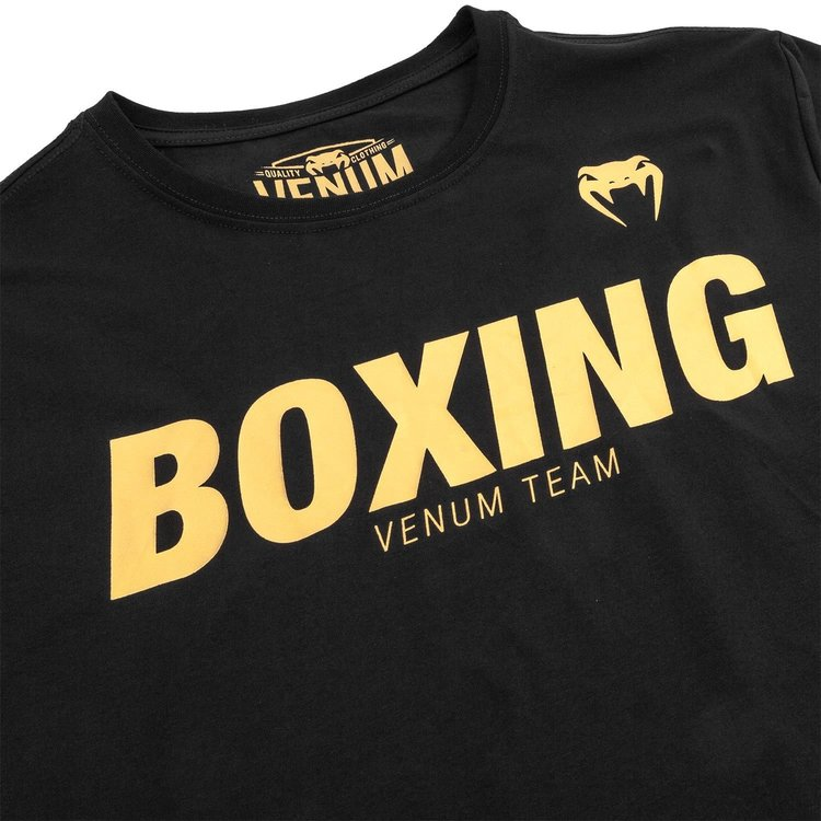 Venum Boxing Clothing Venum VT Boxing T-Shirts Black Gold