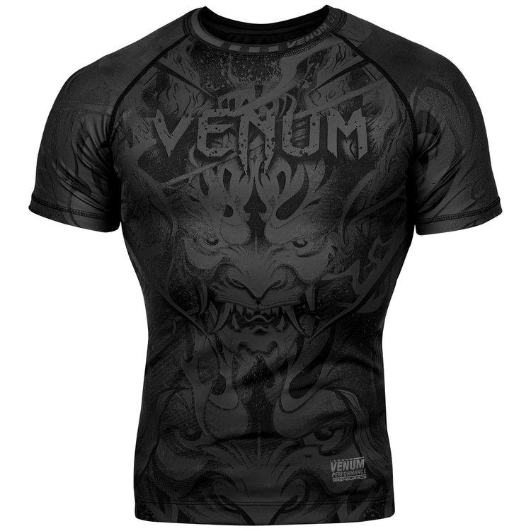 Venum Venum Devil Rashguard Compressie Shirt S / S Zwart Zwart