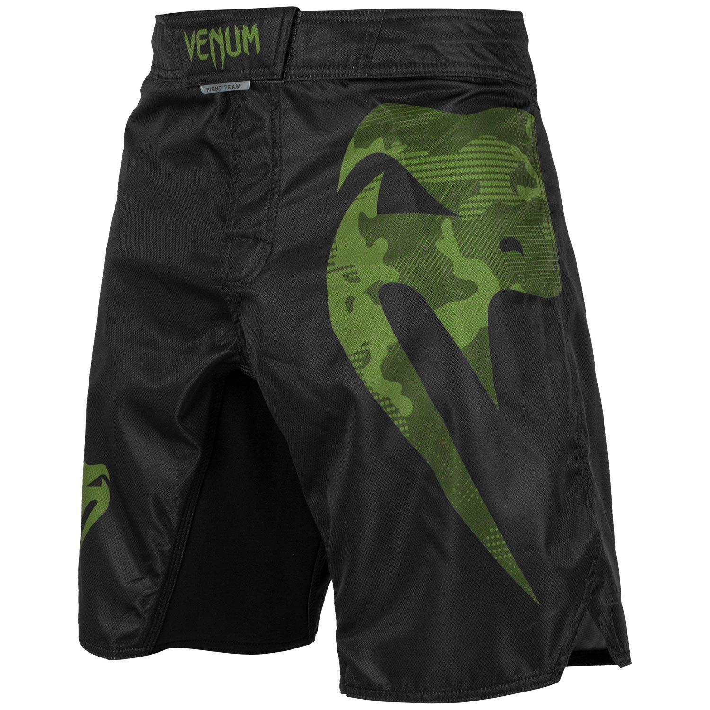 green and black shorts