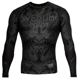 Venum Venum Devil Rash Guards L/S Black Venum Fightwear Clothing