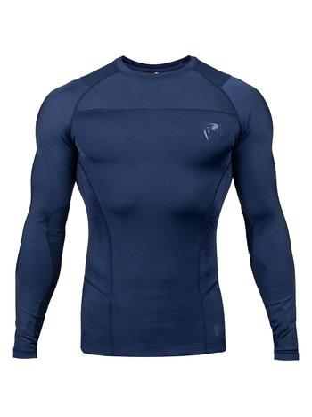 Venum Venum Rashguard G-Fit Compression Shirt L/S Blauw