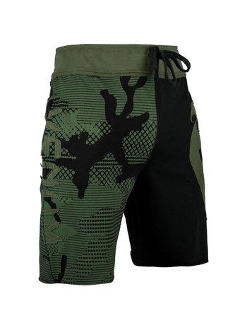 Venum Venum Assault Cotton Training Shorts Black Camo Green