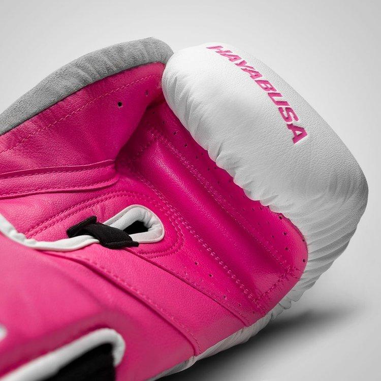 Hayabusa Hayabusa Ladies Boxing GlovesT3 White Pink Kickboxing Gloves