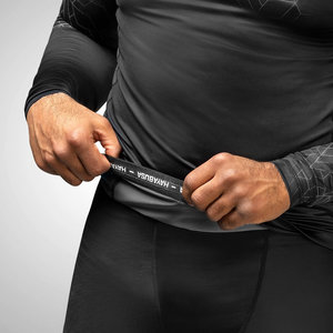 Hayabusa Hayabusa Geo Long Sleeve Rashguard Black Grey