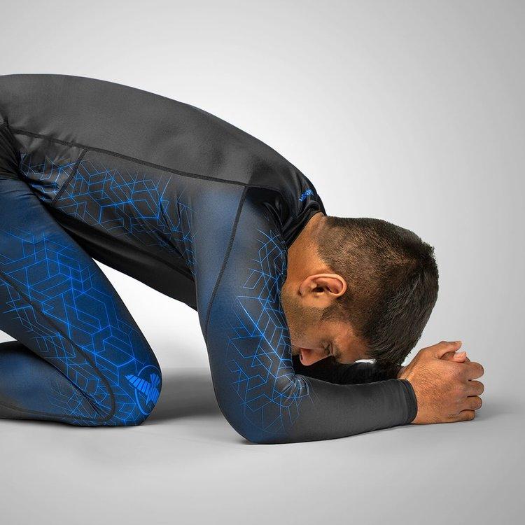 Hayabusa Hayabusa Geo Long Sleeve Rashguard Black Blue