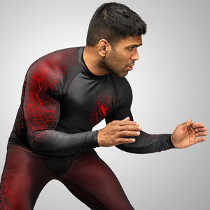 Hayabusa Hayabusa Geo Long Sleeve Rashguard Black Red