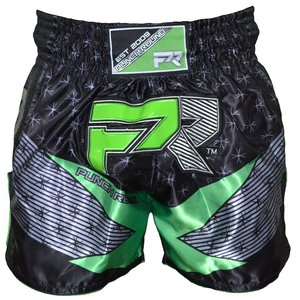 Punch Round™  Punch Round Kickboxing Shorts EVOKE Black Green