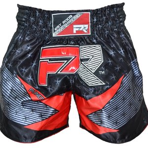 Punch Round™  Punch Round Muay Thai Short EVOKE Black Red