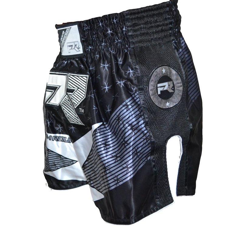 Punch Round™  Punch Round Muay Thai Short EVOKE Black White