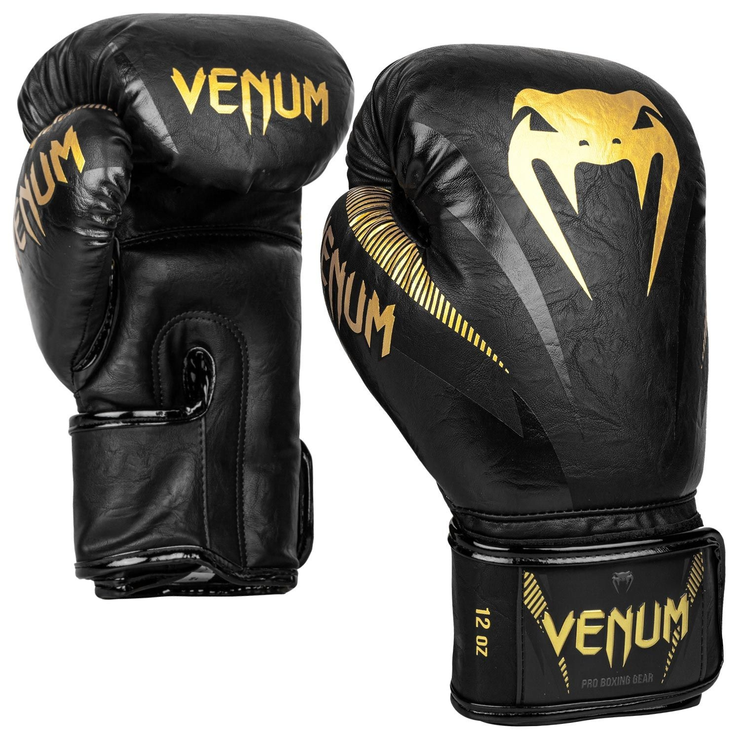 Venum Impact Boxing Gloves Black Gold Fightwear Shop Europe