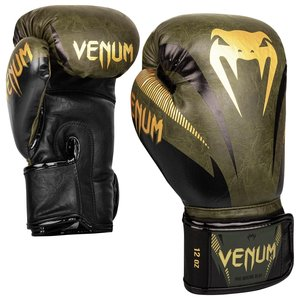 Venum Venum Impact Muay Thai Boxing Gloves Khaki Gold