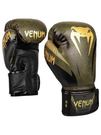 Venum Venum Impact Muay Thai Bokshandschoenen Khaki Goud