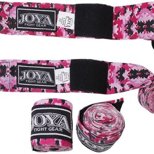Joya Fight Wear Joya Bandages Boxing Hand Wraps Camo Pink Cotton Stretch