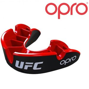 UFC OPRO UFC Mouth Guard Silver Black Red Adult