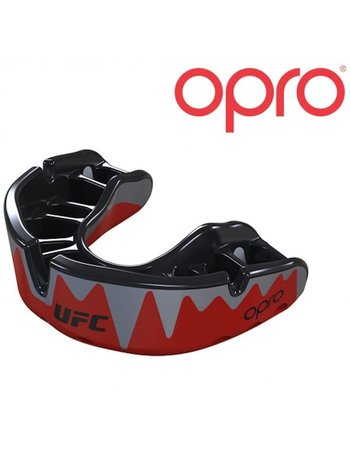 UFC OPRO Platinum Mouthguard Red Metal Black Mouth Protection