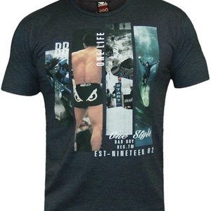 Bad Boy Bad Boy Heritage MMA T Shirts Heather Navy