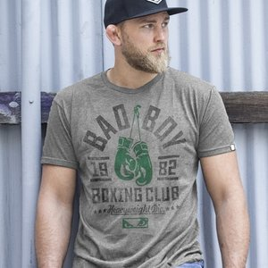 Bad Boy Bad Boy Boxing Club T Shirt Grijs Groen Limited Edition