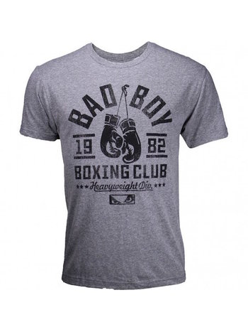 Bad Boy Bad Boy Boxing Club T Shirt Grijs Zwart Vechtsport Kleding