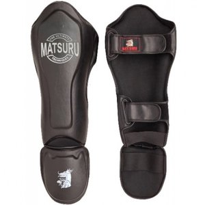 Matsuru Matsuru Kickboks Shin Spannschutz De Breker Black